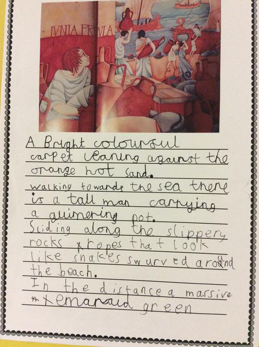 Our completed descriptive writing!