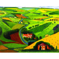 Year 3: Road Across the Wolds by David Hockney