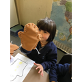 Sewing gingerbread man hand puppets