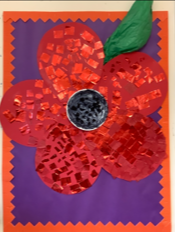 The children made their own giant poppy in celebration of Remembrance Day.