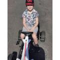 Ethan on his go-kart!