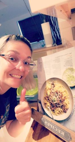 Mrs Siddons trying out some new recipes!