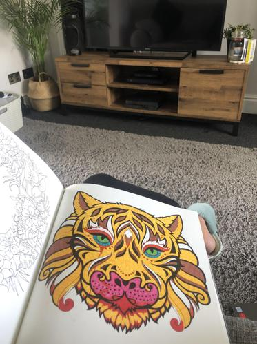 Colouring to keep my mind busy