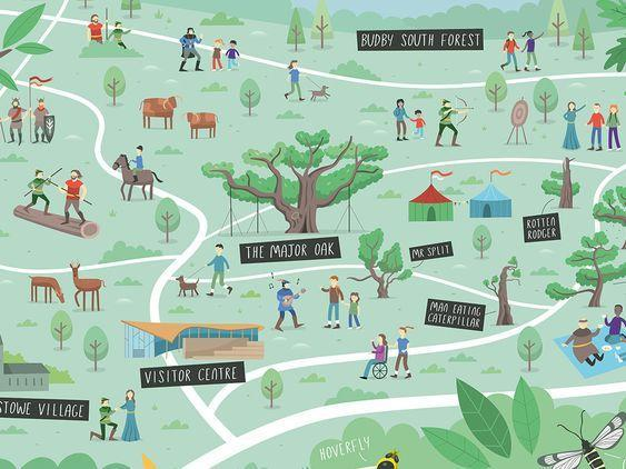 Draw & design your own Sherwood Forest map