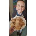 Nathan enjoying baking biscuits