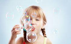 Blow bubbles in the park