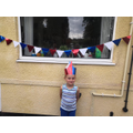 Blake getting ready for VE day!