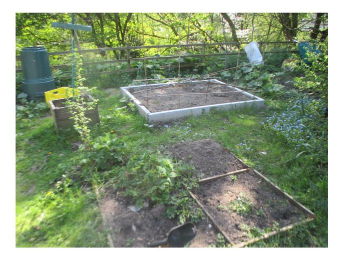 Our gardening area