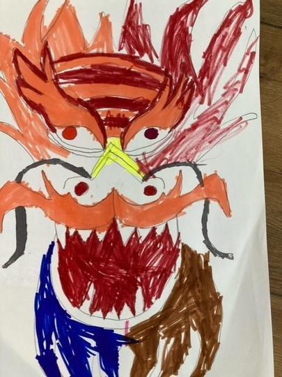 Leyton's drawing of a Chinese dragon
