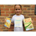 Millie's winning Book Cover