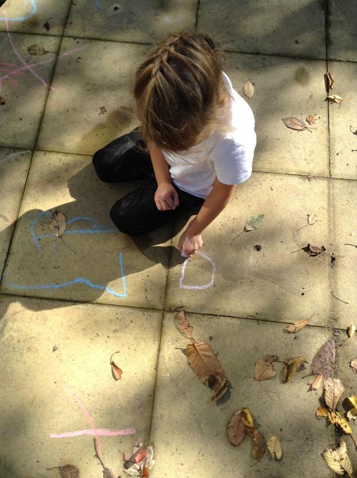 Practising writing numbers