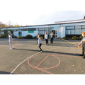 Many of the class couldn't jump into a rotating rope; the could by the end of the lesson!