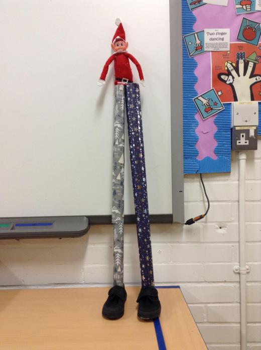 16th: We called Ted 'Mr Long Legs' today...