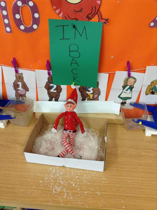 1st: An elf arrived from the North Pole!