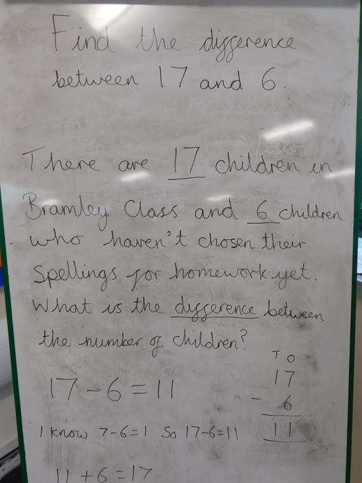 Class Reasoning Word Problem - subtracting using difference