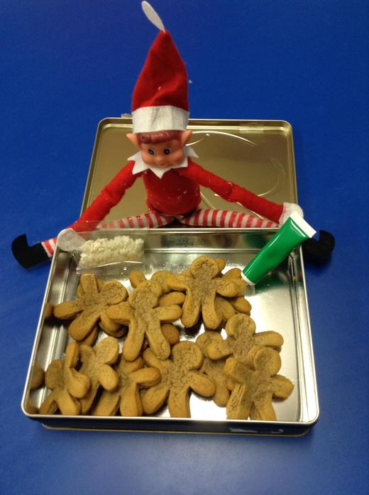 17th: For our last day Ted wanted to decorate gingerbread biscuits with us!