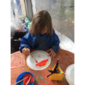 We drew and painted pictures of Little Red Riding Hood