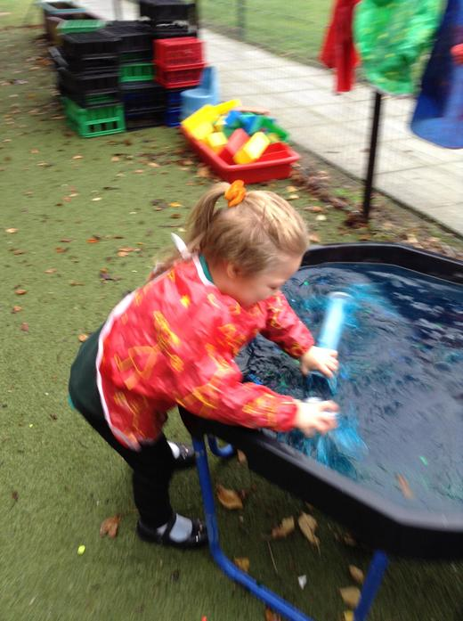 Colourful and glittery water for potions