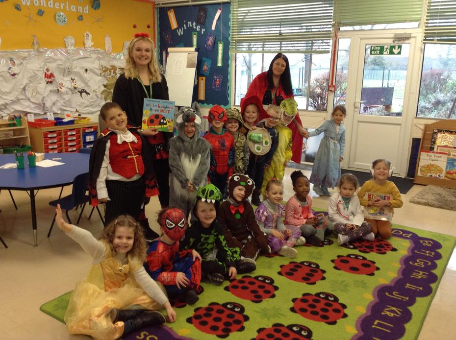 We had an exciting day dressed up for World Book Day! We enjoyed reading lots of stories!