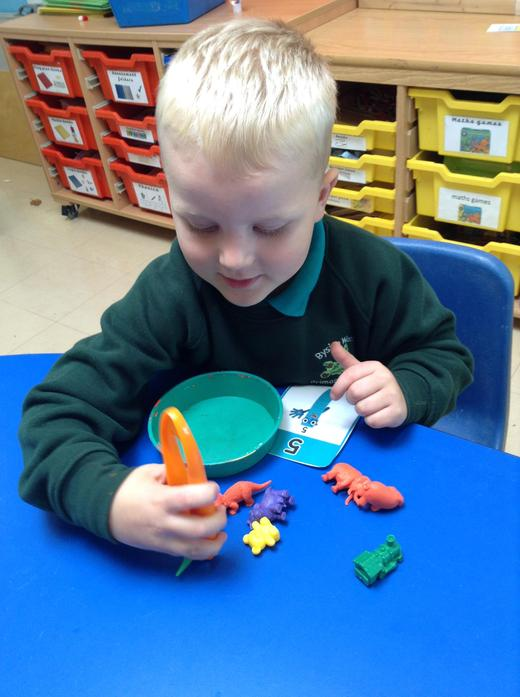 Recognising numbers and counting