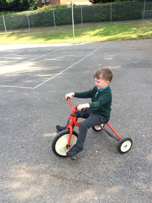 We have been enjoying riding bikes around the big playground!