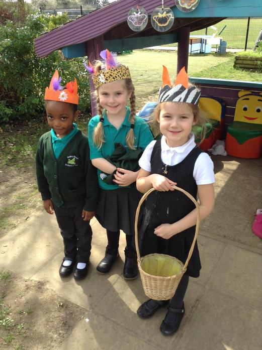 We collected the eggs in baskets