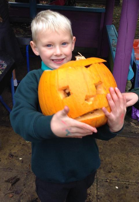 Heavy pumpkin!