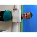 Alfie is proud of his observation sketch