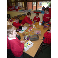 """""""We used tissue paper and different colours to decorate our happy boxes."""""""