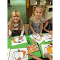 """""""We mixed yellow and red to make orange for our pumpkin pictures."""""""