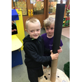 """""""We were building a super tall tower, it was taller than us!"""""""