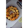Twice cooked cheesy potatoes