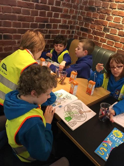 5. Sharing the crayons