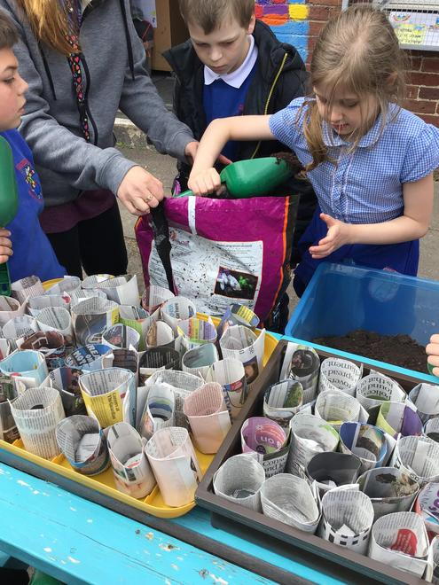 Making positive choices to re-use newspaper