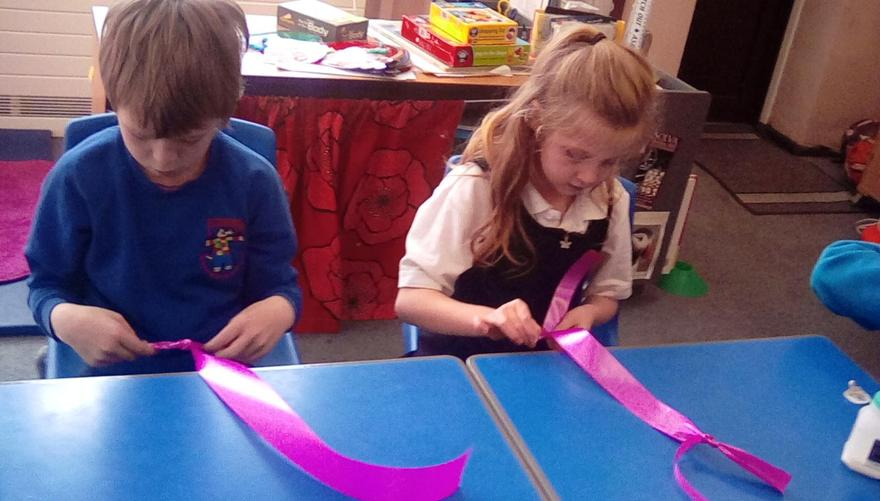 Fine motor skills ready for ribbon dancing