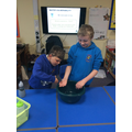 We reminded ourselves about how water feels
