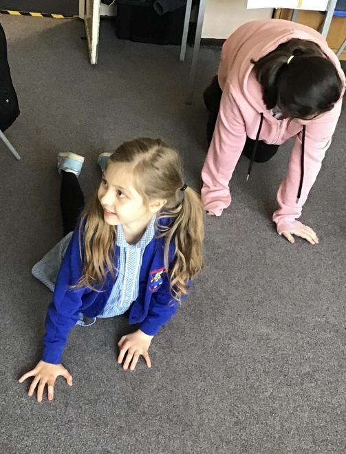 Enjoying a yoga challenge