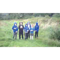 Outside the school grounds on a bramble hunt