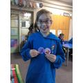 Earned 'Girl Guide' badges outside school. Go you!