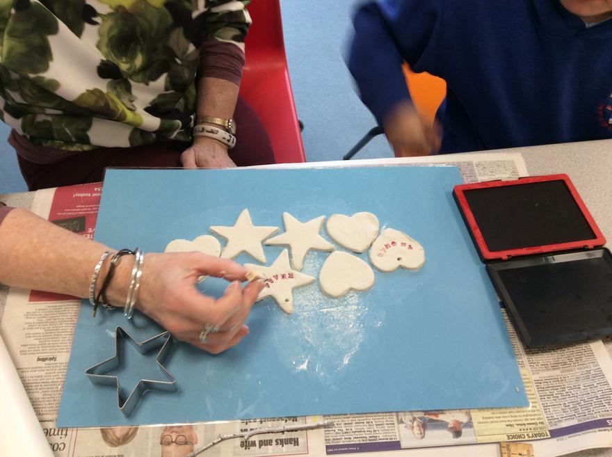 'Cariad'/ 'Nadolig Llawen' shapes on sale in fete