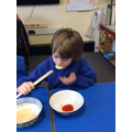 Chopsticks are a whole other fine motor skill
