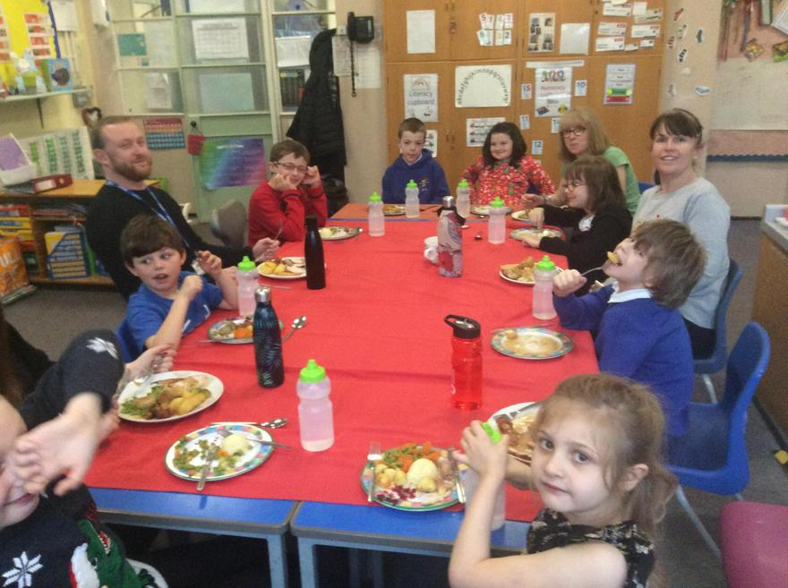 Everyone enjoyed and tried the different foods