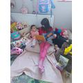 Blanca reading... how lovely!