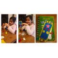 Kiran sewed her own bookmark - amazing!