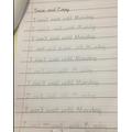 Ayla's fabulous handwriting