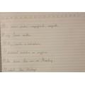 Great sentences Kiran - better than mine