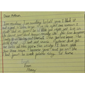 Macey's letter to Arthur