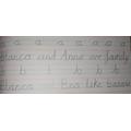 Beautiful handwriting Blanca