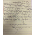 Macey's amazing letter - great work