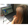 Ayla doing her coding - great work